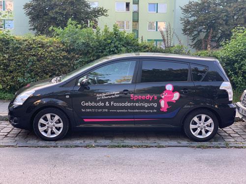 Fuhrpark von Speedy's Gebäude- und Fassadenreinigung Brunnthal bei München